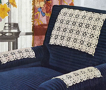Flowery Chair Set Pattern #7032