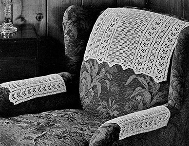 Checker Filet Chair Set Pattern #7038