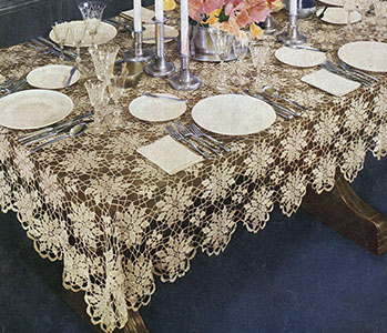 Queen Annes Lace Tablecloth Pattern 7050 Crochet Patterns
