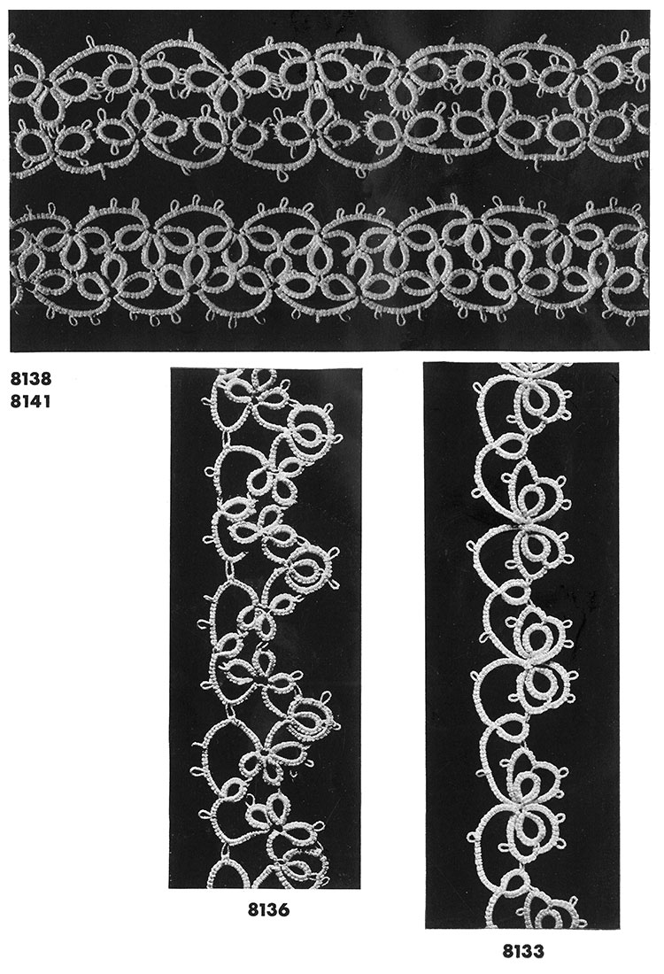 Tatting Edging Patterns #8138, #8141, #8136, #8133