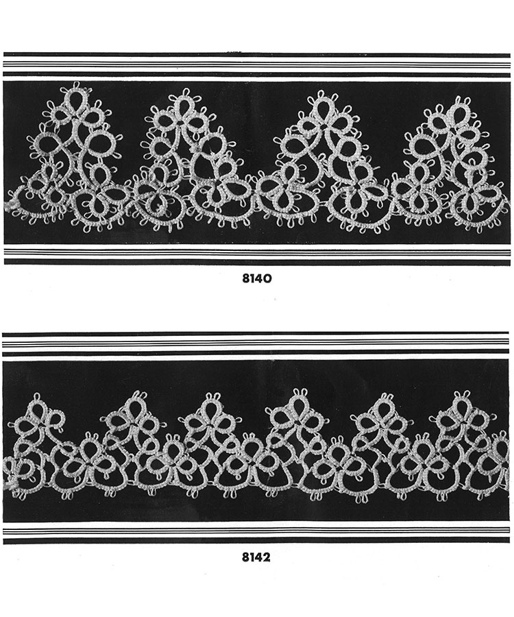 Tatting Edging Patterns #8140, #8142