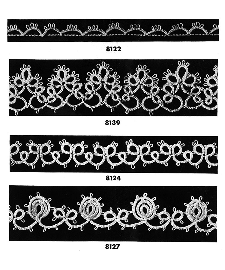 Tatting Edging Patterns #8122, #8139, #8124, #8127