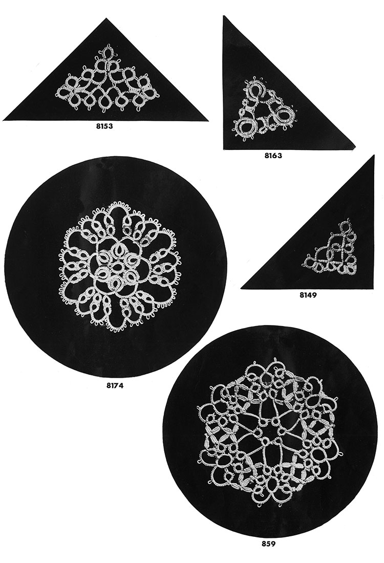 Tatting Medallion Patterns #8153, #8163, #8149, #8174, #859
