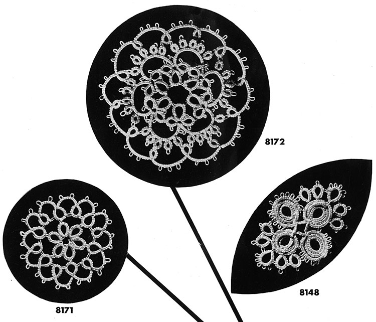 Tatting Medallion Patterns #8171, #8172, #8148