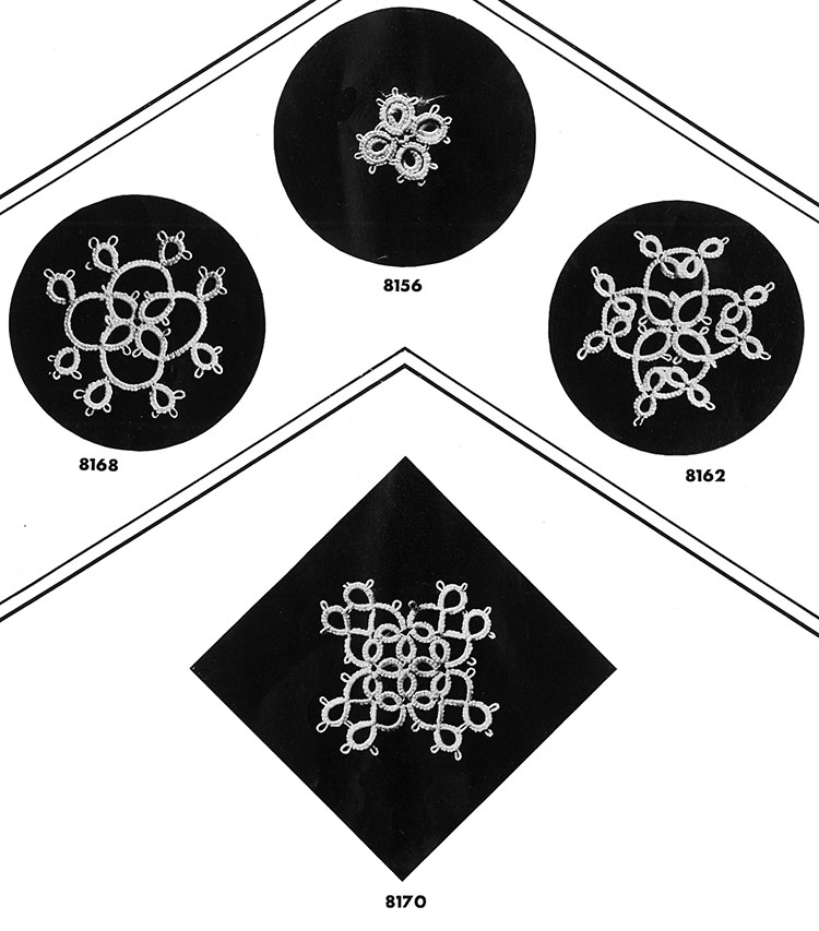 Tatting Medallion Patterns #8168, #8156, #8162, #8170