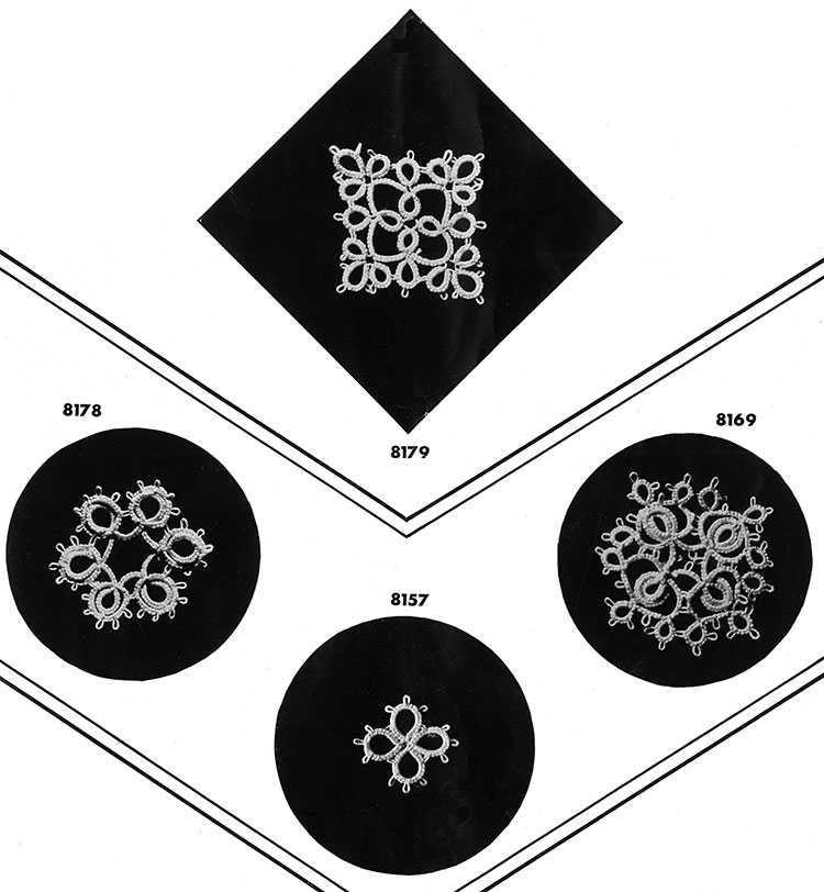 Tatting Medallion Patterns #8179, #8178, #8157, #8169