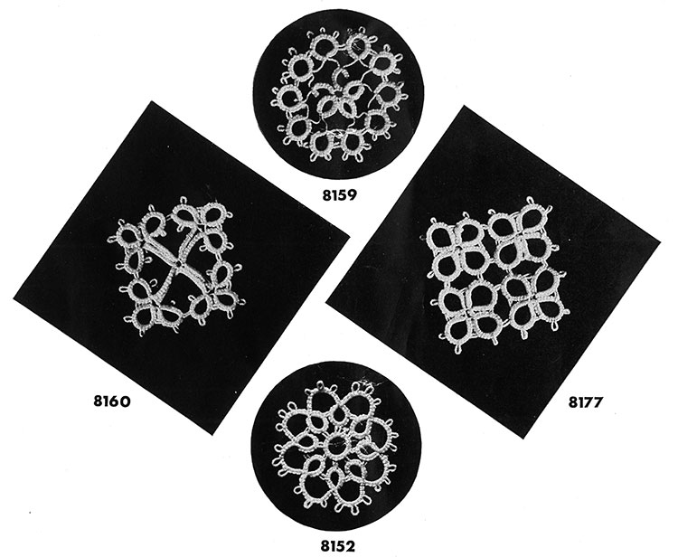 Tatting Medallion Patterns #8160, #8159, #8152, #8177