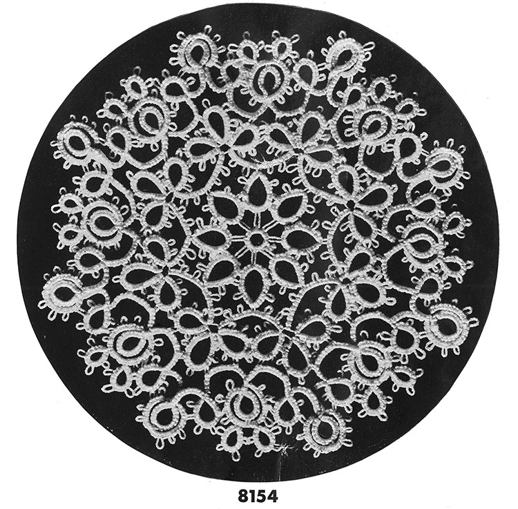 Tatting Doily Pattern #8154