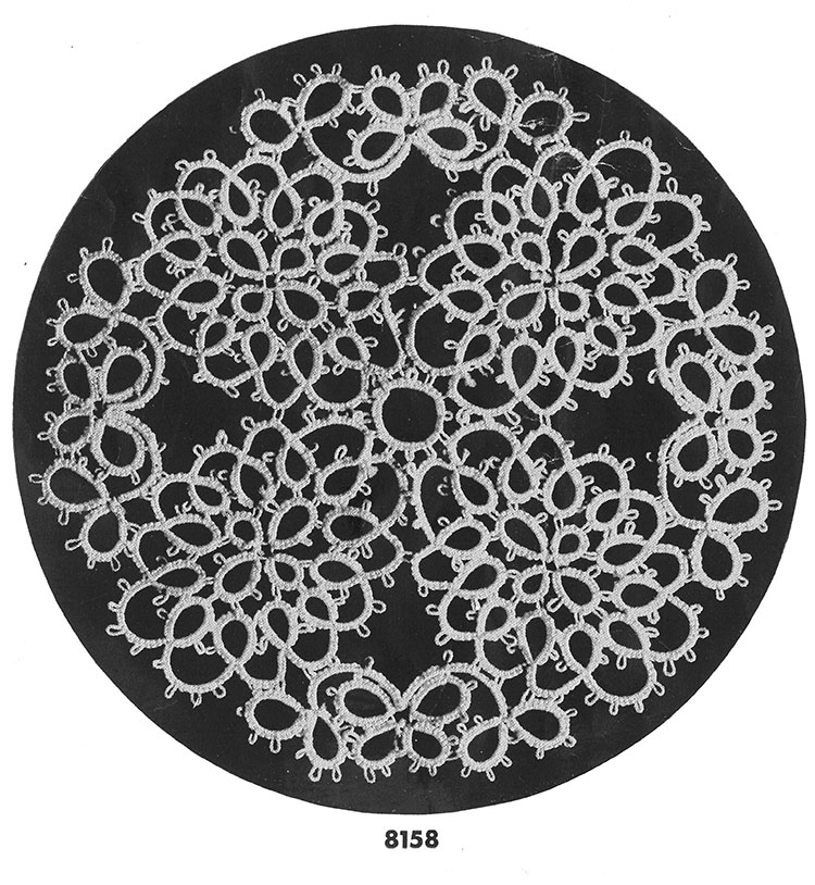 Tatting Doily Pattern #8158