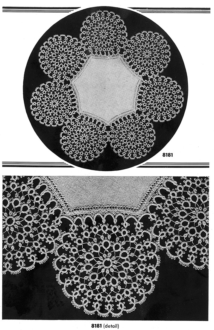 Tatting Doily Pattern #8181