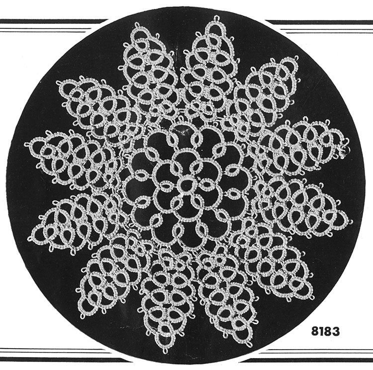 Tatting Doily Pattern #8183