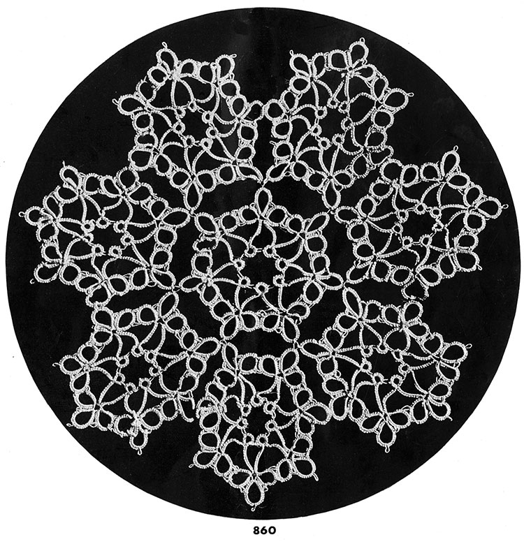 Tatting Doily Pattern #860