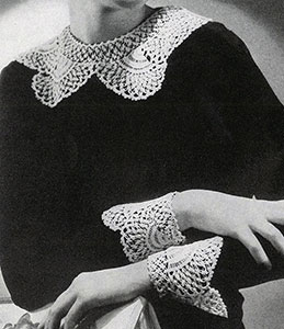 Antique Lace Collar and Cuffs Pattern #2204