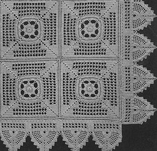 Meadow Daisy Bedspread Pattern #62