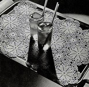 Sundial Tray Mat Pattern #7021