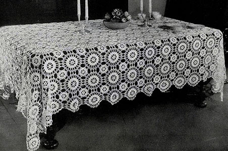 Star Wheel Tablecloth Pattern #744-H