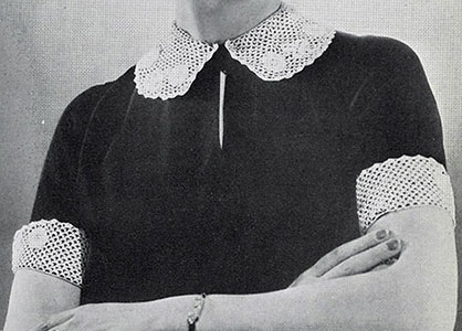 Irish Crochet Collar and Cuff Set Pattern #2254