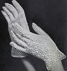 Irish Crochet Glove Pattern #2258