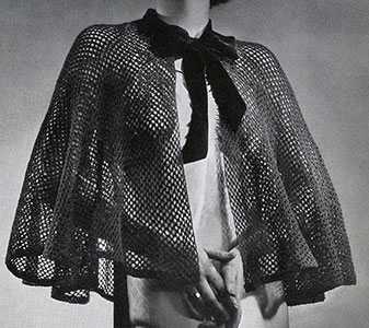 Fishnet Evening Cape Pattern #445