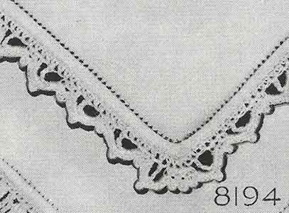 Handkerchief Edging Pattern, No. 8194