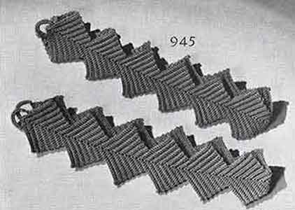Tie Backs Pattern, No. 945