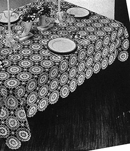Flower Wheel Tablecloth Pattern #7066