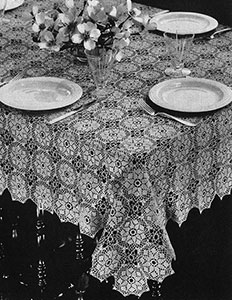 Mosaic Tablecloth Pattern #7070