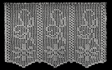 Antimacassar in Filet Crochet Pattern #65