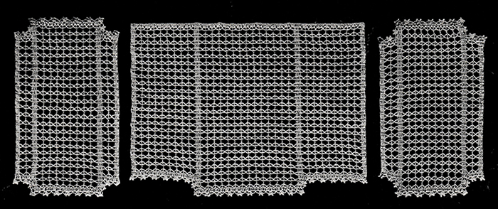 Mesh Lace Chair Set Pattern #66