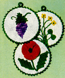 Flower and Grape Potholder Pattern