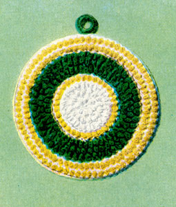 White, Yellow & Green Potholder Pattern