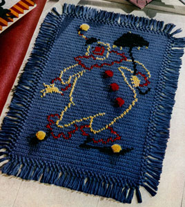 Happy the Clown Rug Pattern