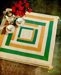 Metropolitan Square Tablecloth Pattern