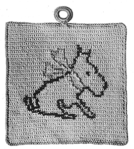 Scottie Pot Holder Pattern #211