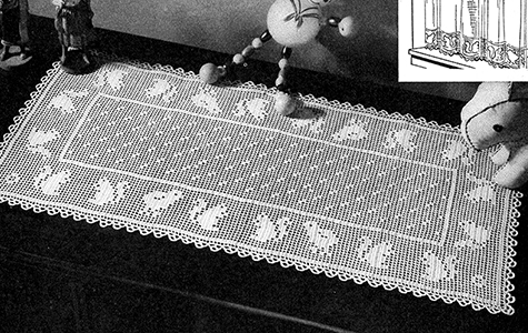 Filet Scarf Runner Pattern #213