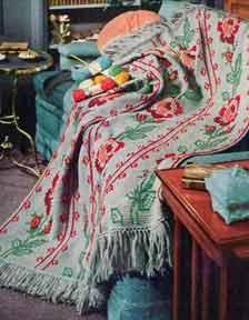 American Rose Afghan Pattern