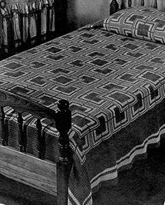 Log Cabin Bedspread