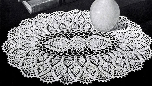 Oval Pineapple Doily Pattern Crochet Patterns