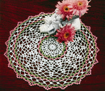 Green and Pink Doily Pattern