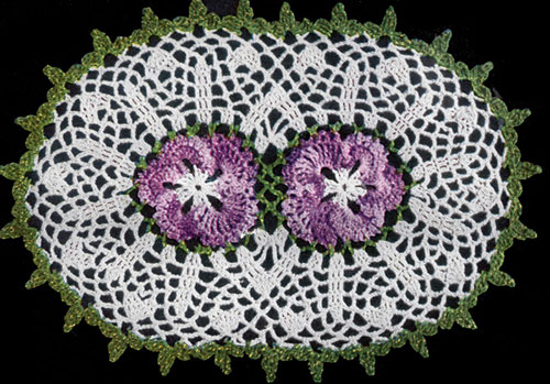 Double Pansy Doily Pattern