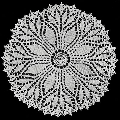 leaf doily pattern free crochet patterns free crochet doily patterns ...