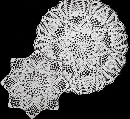 Pineapples Large and Small Doily Patterns