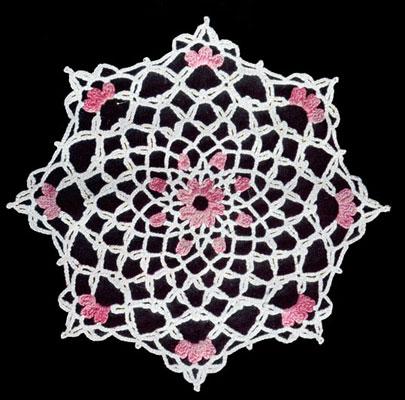 Pink Petal Doily Pattern