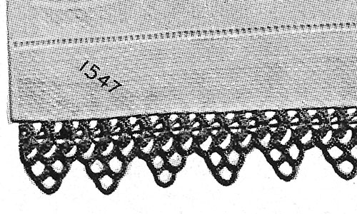 Pointed Medallion Crocheted Edging Pattern #1547