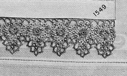Peony Tatted Edging Pattern #1549