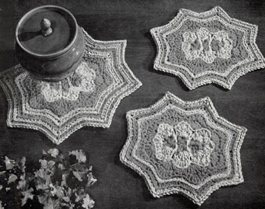 Crocheted Hot Plate Mats Pattern