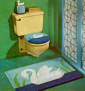 Swan Bathroom Set Pattern