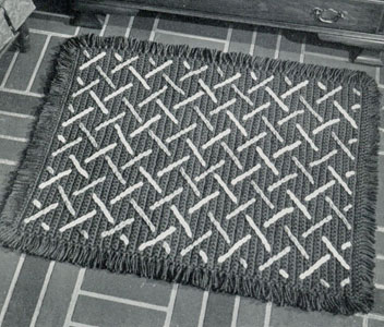 Match Sticks Embroidered Rug Pattern