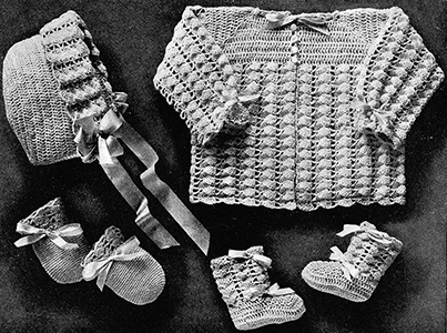 Infant's Crocheted Set Pattern #2001