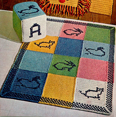 Block Pillow & Rug Patterns